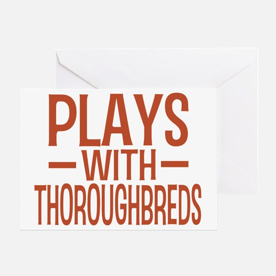 playsthoroughbreds Greeting Card