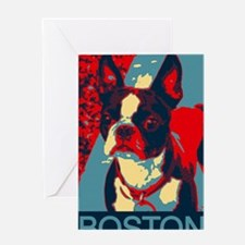 Perky BOSTON poster Greeting Card