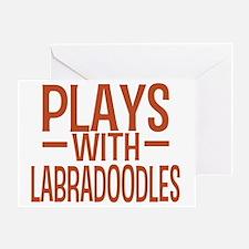 playslabradoodles Greeting Card