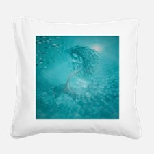 mermaid Square Canvas Pillow