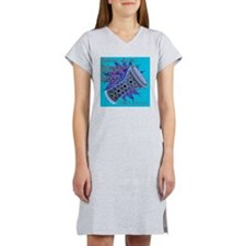 cheat sheet turquoise Women's Nightshirt