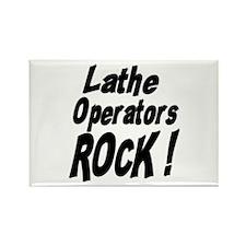 Lathe Operators Rock ! Rectangle Magnet