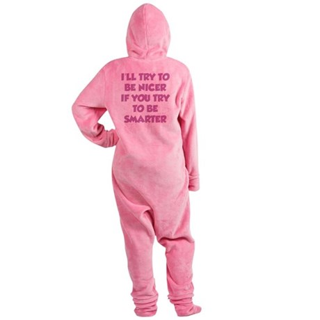 beNicer1G Footed Pajamas