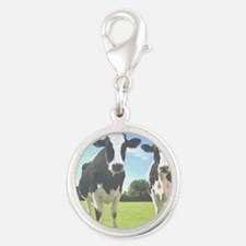cowsinfield7600 Silver Round Charm