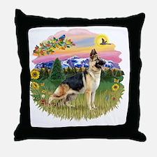 MtCountry-GermanShep13 Throw Pillow