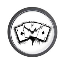 Unique Poker player Wall Clock