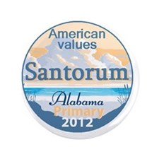 "Santorum ALABAMA 3.5"" Button"
