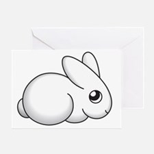shy bunny large Greeting Card