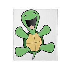 HappyTrtlBlkCrop Throw Blanket