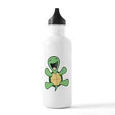 HappyTrtlBlkCrop Water Bottle