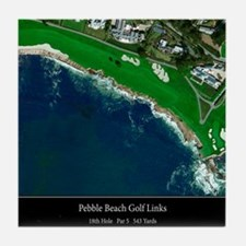 Pebble Beach 18th Hole Tile Coaster