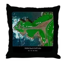 Pebble 6-7-8 24x18 Black Final Throw Pillow