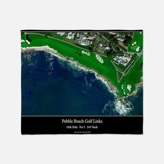 Pebble Beach 18th Hole Throw Blanket