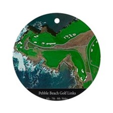 Pebble 6-7-8 24x18 Black Final Round Ornament