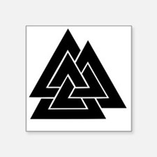 "valknut Square Sticker 3"" x 3"""