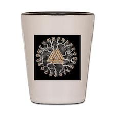 valknut und runes Shot Glass