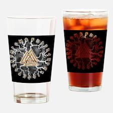 valknut und runes Drinking Glass