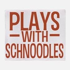 playsschnoodles Throw Blanket