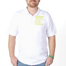 Art_Black Ops Commandments_yellow T-Shirt