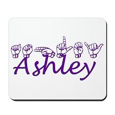 Ashley in ASL Mousepad