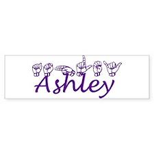 Ashley in ASL Bumper Car Sticker