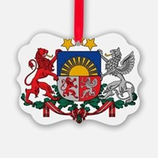 Latvia Coat of Arms Ornament