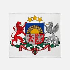 Latvia Coat of Arms Throw Blanket