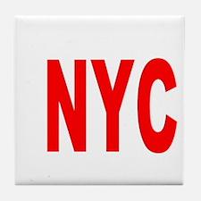 east harlem nyc(blk) Tile Coaster