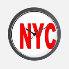 east harlem nyc(blk) Wall Clock