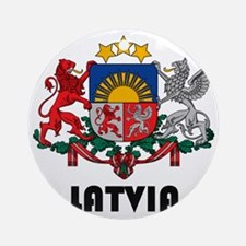 Latvia Coat of Arms Round Ornament