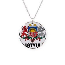 Latvia Coat of Arms Necklace