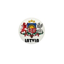 Latvia Coat of Arms Mini Button