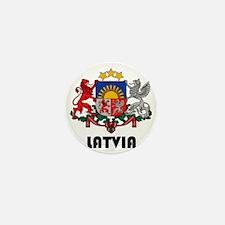 Latvia Coat of Arms Mini Button