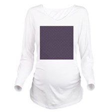 Purple Designer Long Sleeve Maternity T-Shirt