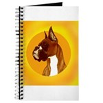 Fawn Boxer Head Study Journal