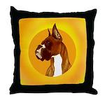 Fawn Boxer Head Study Throw Pillow