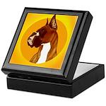 Fawn Boxer Head Study Keepsake Box
