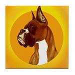 Fawn Boxer Head Study Tile Coaster