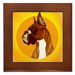 Fawn Boxer Head Study Framed Tile