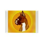 Fawn Boxer Head Study Rectangle Magnet (10 pack)