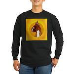 Fawn Boxer Head Study Long Sleeve Dark T-Shirt