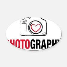 Love Photography Oval Car Magnet