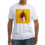Fawn Boxer Head Study Fitted T-Shirt