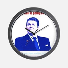 Ronald Reagan Today Dark Wall Clock