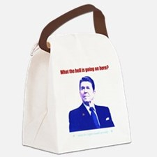 Ronald Reagan Today Dark Canvas Lunch Bag
