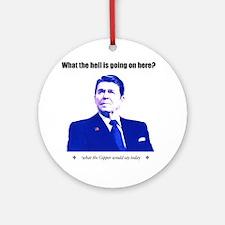 Ronald Reagan Today Light Round Ornament