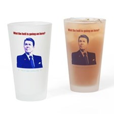 Ronald Reagan Today Dark Drinking Glass