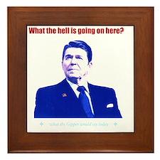 Ronald Reagan Today Dark Framed Tile