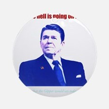 Ronald Reagan Today Dark Round Ornament