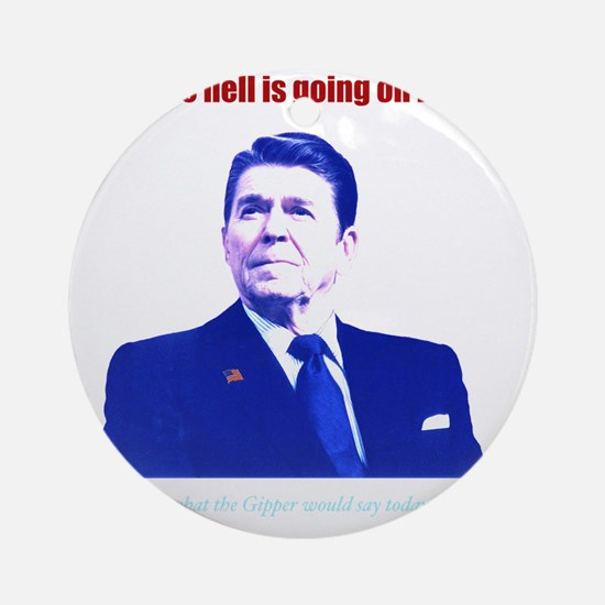 Ronald Reagan Today Dark Round Ornament